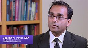 Watch a video discussing minimally invasive spine surgery
