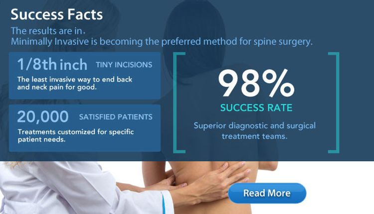 Minimally Invasive Now Preferred Method for Spine Surgery - at a 98% Success Rate