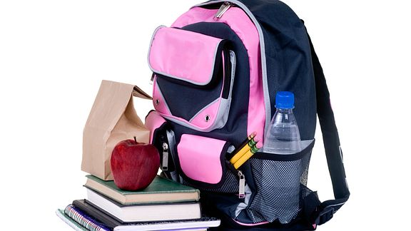 Backpack heavy with school supplies