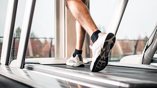 Image of person walking on the treadmill