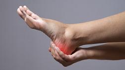 Heel pain in the foot.