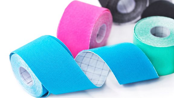 Several rolls of kinesiology tape