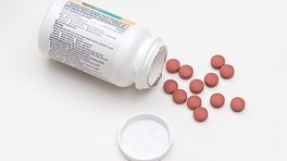 Spilled bottle of pills.
