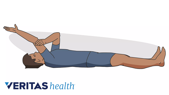 Person doing the supine flexion exercise