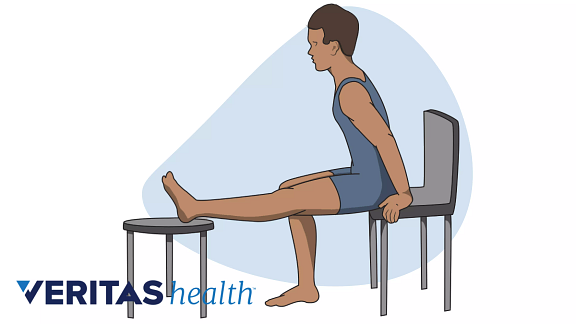 Illustration of the seated hamstring stretch