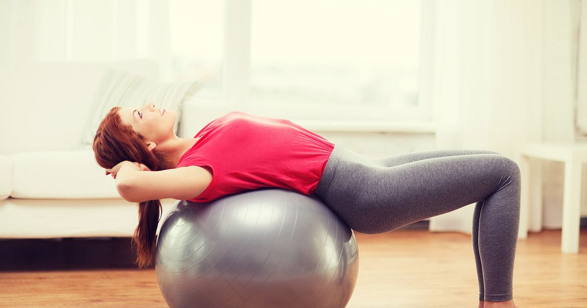 Using An Exercise Ball to Rehab Your Back