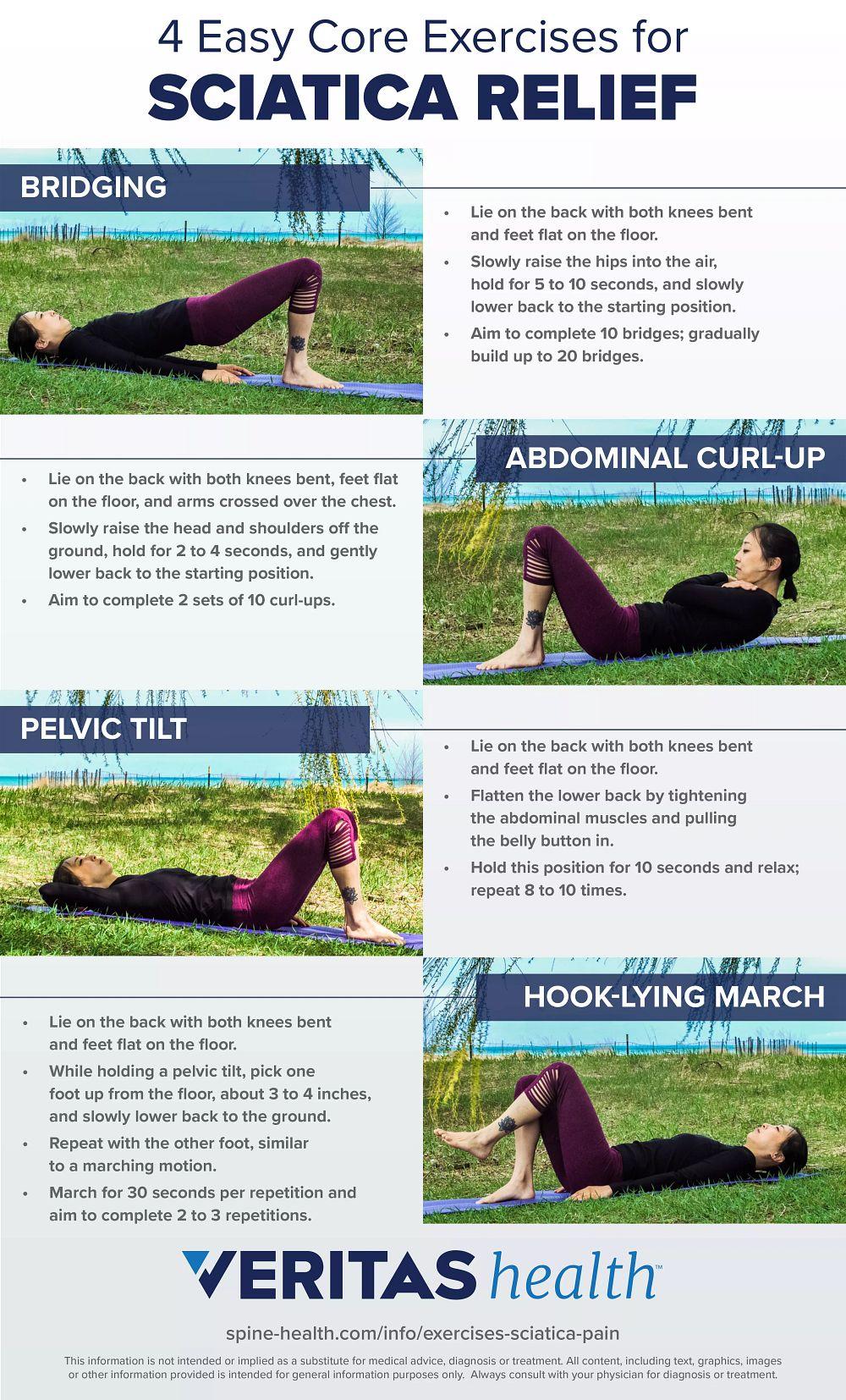 4 Easy Core Exercises for Sciatica Relief