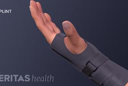 Wrist with brace