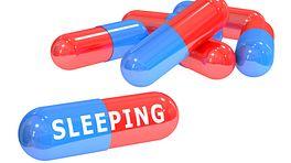 Scattered sleeping pills