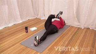 Supine piriformis stretch version 1