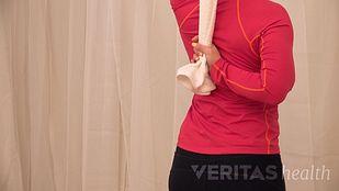 towel shoulder stretch