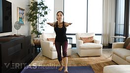 Woman performing a single-leg squat