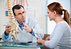 Image of doctor discussing hip anatomy with patient