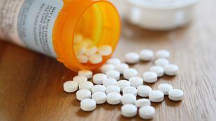 Spilled prescription pill bottle