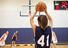 Image of girl shooting a basketball