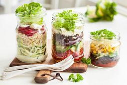 three jar salads