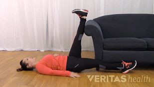 Wall Hamstring Stretch Video
