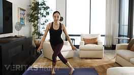 Women performing crossover walk advanced proprioception exercise