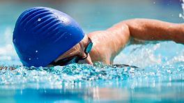 Swimmer swimming the front crawl