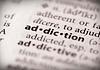 Image of the word addiction in the dictionary