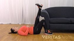 wall hamstring stretch