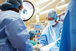 Image of a surgical team working in operating room