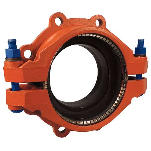 Victaulic style flange adapter for hdpe to flanged