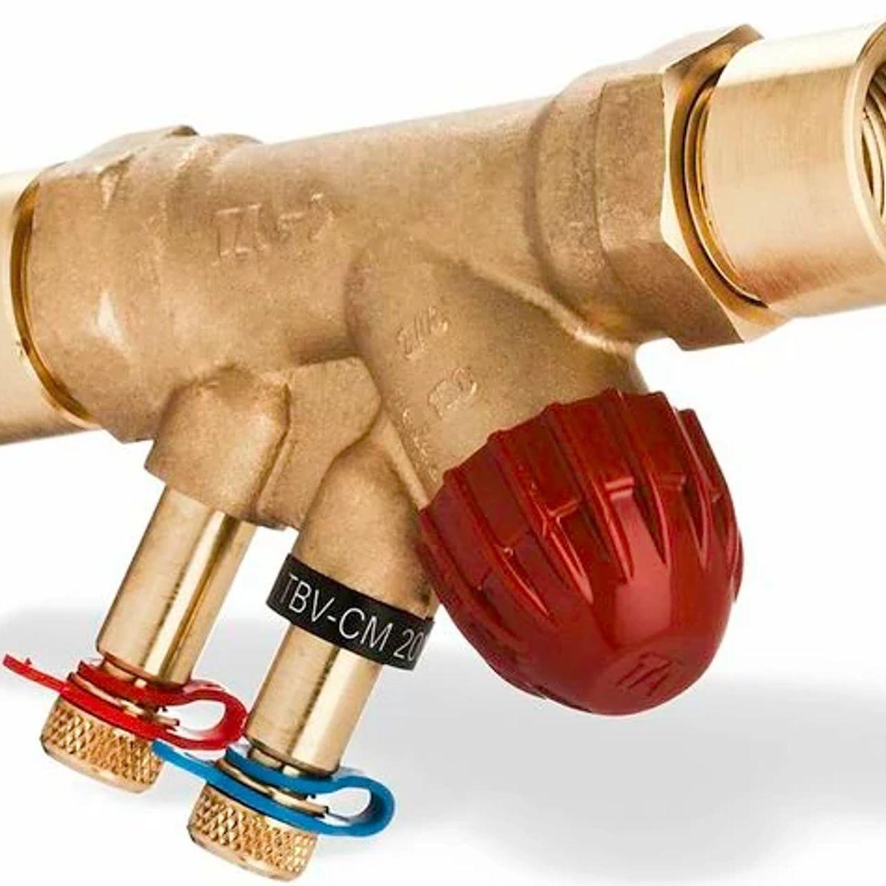 Válvula de balanceo y control terminal para control modulador y ON-OFF
