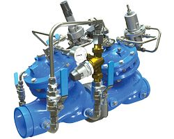 Clapet de réduction de pression avec vanne de surveillance (PRV) combo avec bypass débit faible intégré