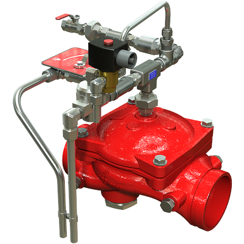 Válvula de diluvio ON/OFF eléctrica Serie 869E-3D de operación remota