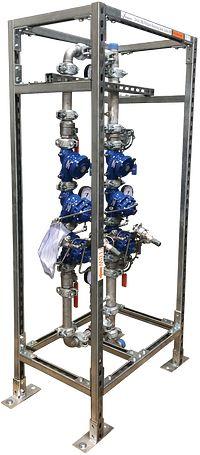 Stationen mit vertikalem Druckreduzierventil Serie 386-V