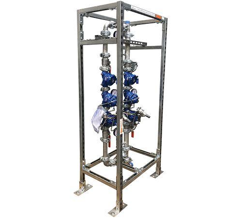 Postes de contrôle à vanne de réduction de pression verticaux série 386-V
