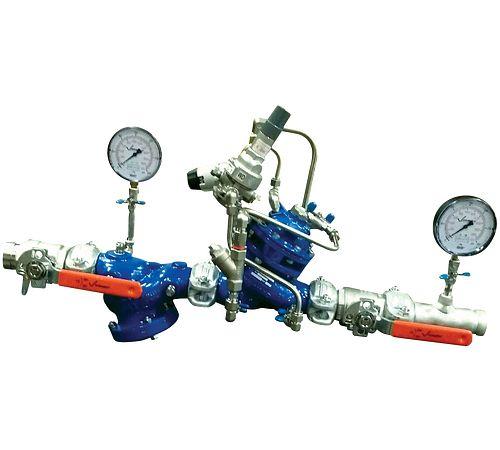 Estación de válvulas reductoras de presión de derivación única serie 386-SB