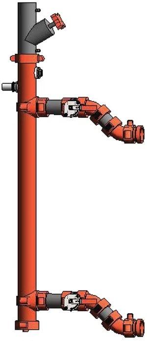 Bajada para unidad manejadora de aire (UMA) Serie 385 con aislación de vibraciones