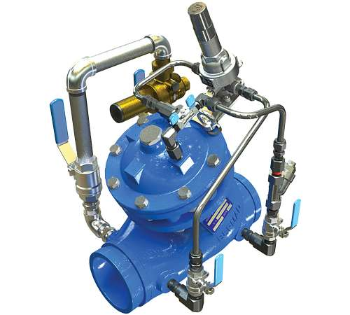 Pressure Reducing Valve with Low-Flow Bypass