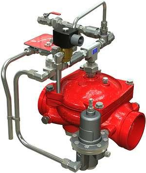 Válvula de diluvio ON-OFF Serie 869Y-3D de operación remota eléctrica