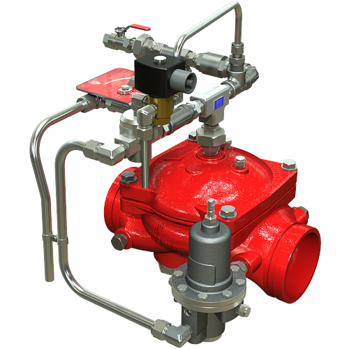 Series 869E-3DC Electrically Operated Remote Operation On/Off, Downstream Pressure Control Deluge Valve