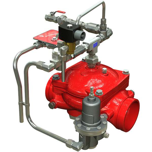 Series 869Y-3DC Electrically Operated Remote Operation On/Off, Downstream Pressure Control Deluge Valve