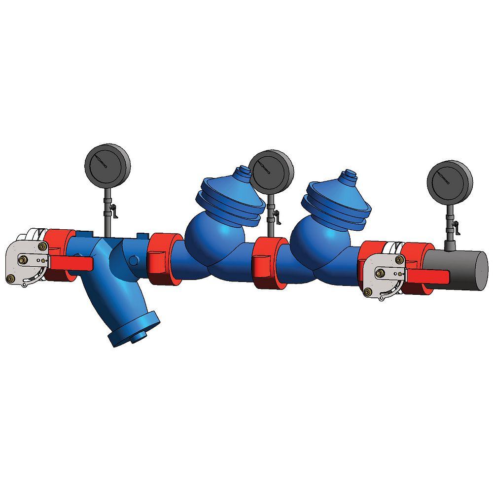 Poste de contrôle de réduction de pression à un embranchement série 386-SB