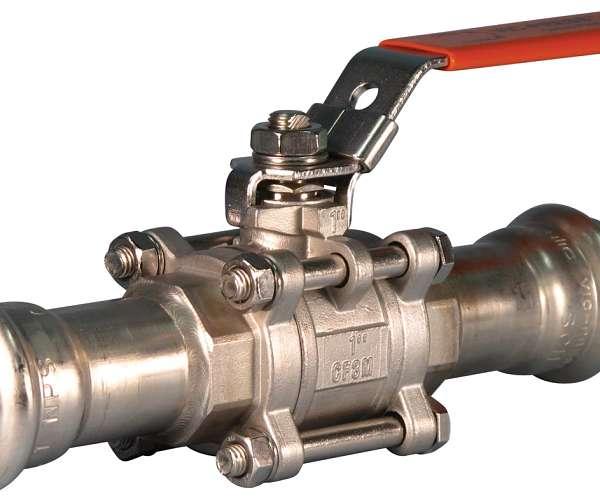 Válvula esférica Vic-Press™ Serie P569 para tuberías de acero inoxidable Tipo 316 cédula 10S