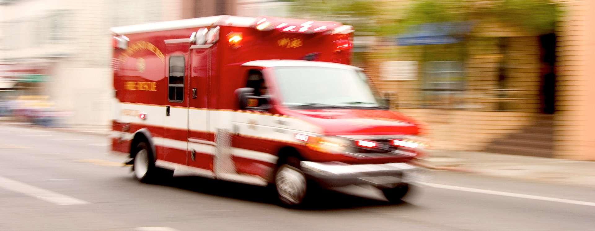 Camión de bomberos en movimiento en Orlando