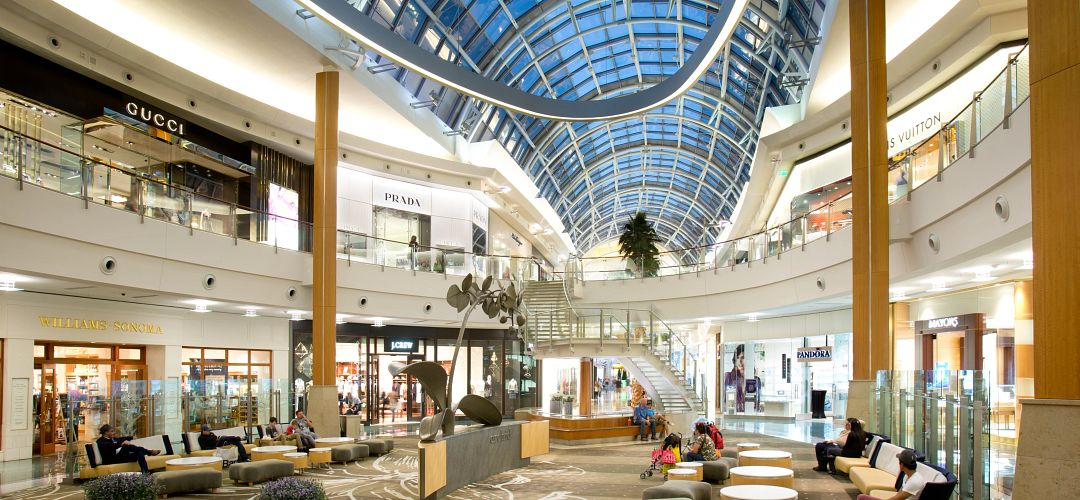 The interior of Mall at Millenia in Orlando