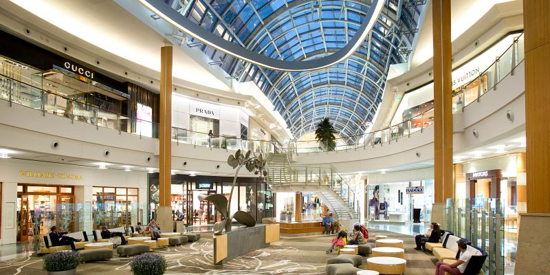 The interior of Mall at Millenia
