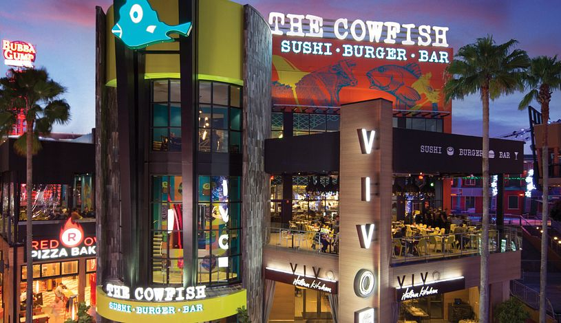 View of Cowfish exterior during sunset
