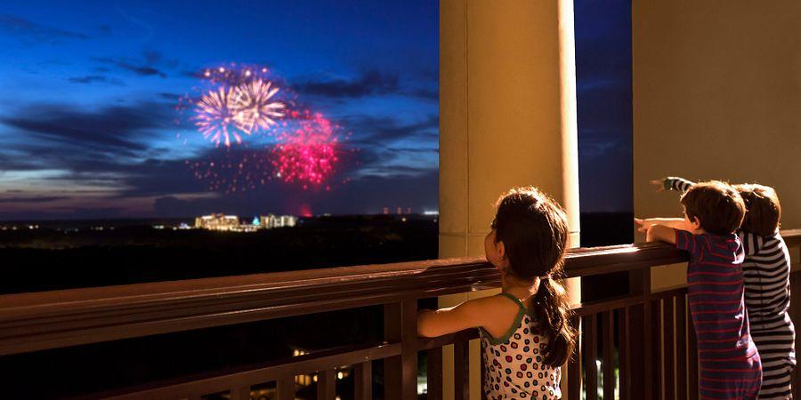 Walt Disney World Fireworks viewed from Four Seasons Resort Orlando