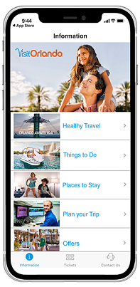 Download the app for a more personalized Orlando experience