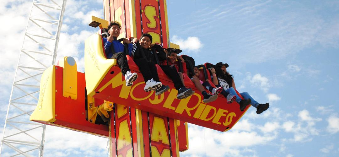 People on an amusement ride at Fun Spot Orlando