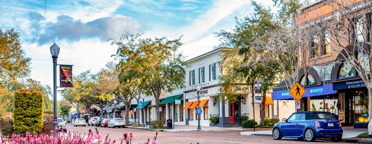 Park Avenue in Winter Park, Florida