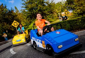 Kids enjoying Ford Driving School at LEGOLAND Florida Resort