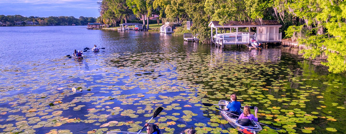 Kayaking in Winter Park Near Orlando